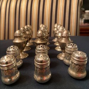 Vintage Sterling Silver salt & pepper shakers sets